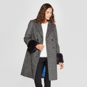 Women's Plaid Double Breasted Coat